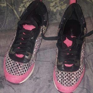 NWT Pink Tweed & Faux Suede Sneaker